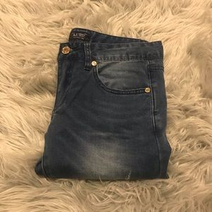 Armani Skinny jeans with gold hardware
